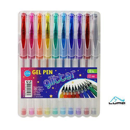 Gelové pero 10 barev GLITTER