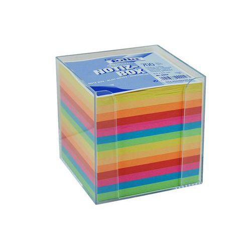 Bloček KOSTKA barevná 95 x 95mm, nelepená + plastová krabička