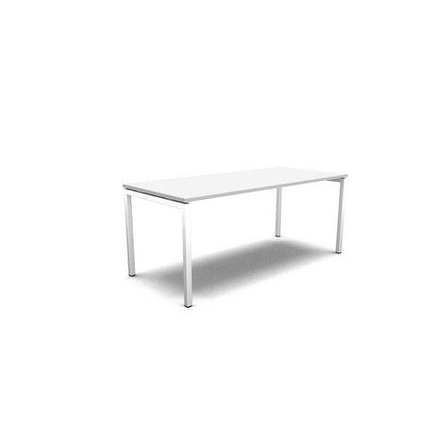 Stůl pracovní - rovný, deska bílá, podnož bílá - Prodloužená záruka na 10 let