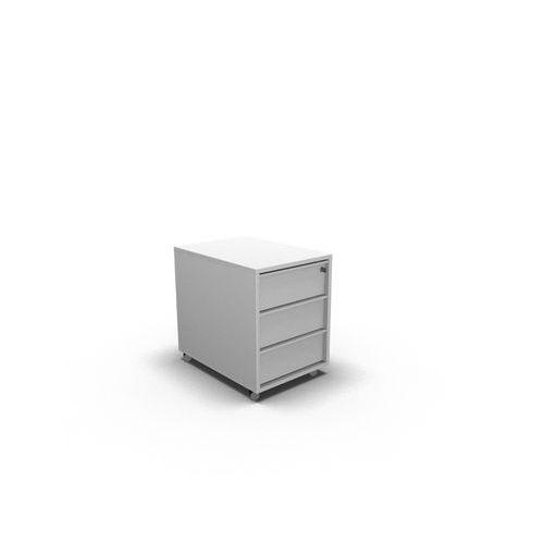 Kontejner 3 zásuvkový, zásuvky bílá, korpus bílá