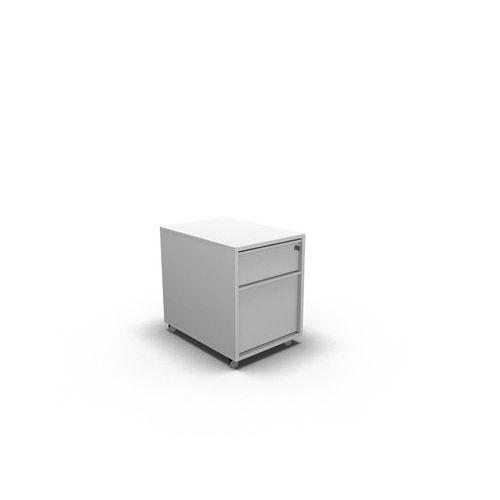 Kontejner 2 zásuvkový, zásuvky bílá, korpus bílá