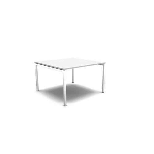 Jednací stůl, deska bílá, podnož bílá - Prodloužená záruka na 10 let
