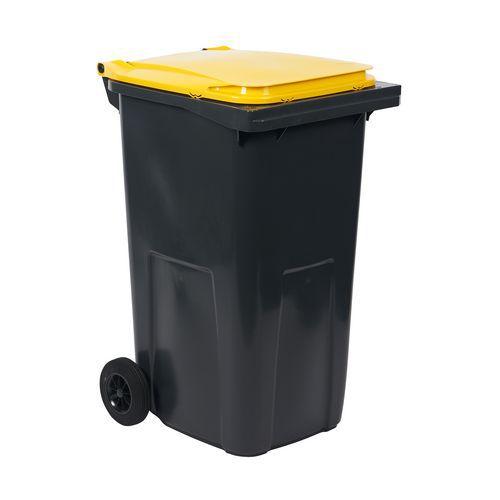 Plastové venkovní popelnice na tříděný odpad, objem 240 l, Kapac