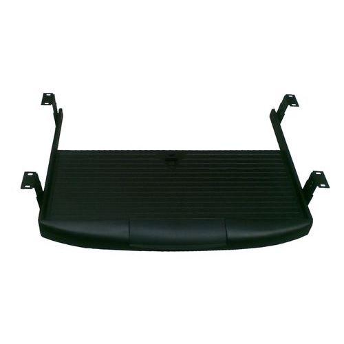 Výsuvný držák na klávesnici Classic line, 54 x 40 cm, Šířka: 540 mm, Hloubka: 400 mm, Dezén desky: Černá, Materiál desky: plast - Prodloužená záruka na 10 let