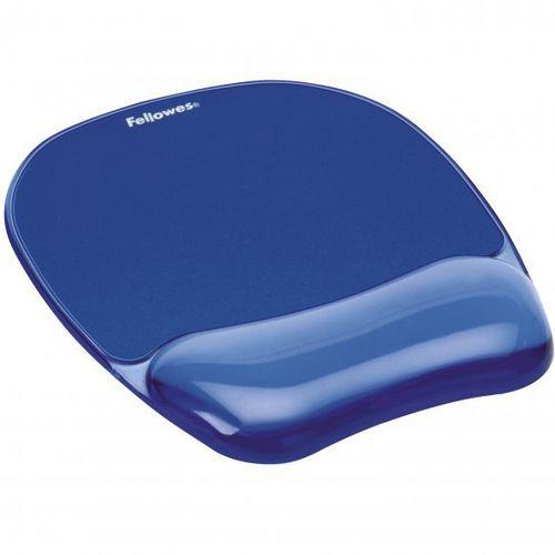 Fellowes CRYSTAL modrá / Podložka pod myš a zápěstí / gelová (felfergwmpadcrystb)