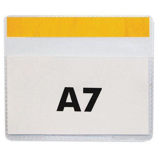 Informační kapsy Manutan, A7, samolepicí, 50 ks