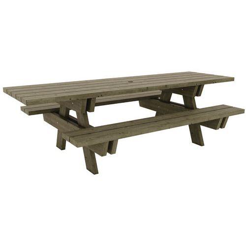 Piknikový stůl Manutan Borovice ZTP, šířka 230 cm