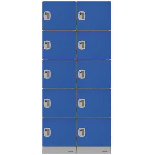 Montovaný plastový šatní modul Manutan Murphy, 10 boxů, cylindri