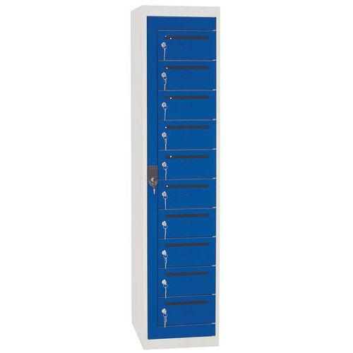 Poštovní skříň Manutan, 10 boxů, modrá