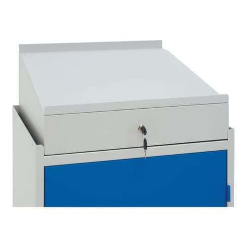 Uzamykatelný box Manutan, 1 box, modrý - Prodloužená záruka na 10 let