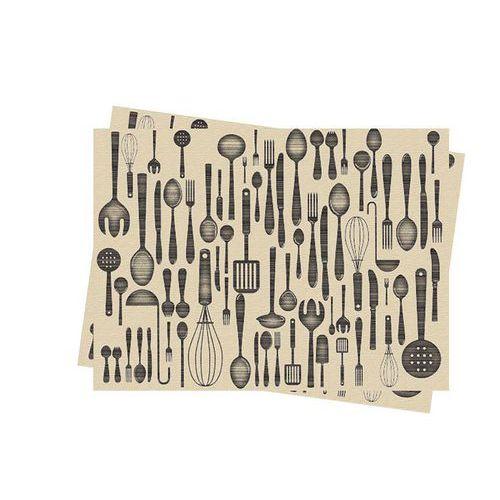 Jednorázové papírové prostírání Infibra 30 x 40 cm, Brunch, 250k