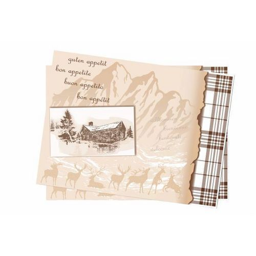 Jednorázové papírové prostírání Infibra 30 x 40 cm, Chalet, 250k