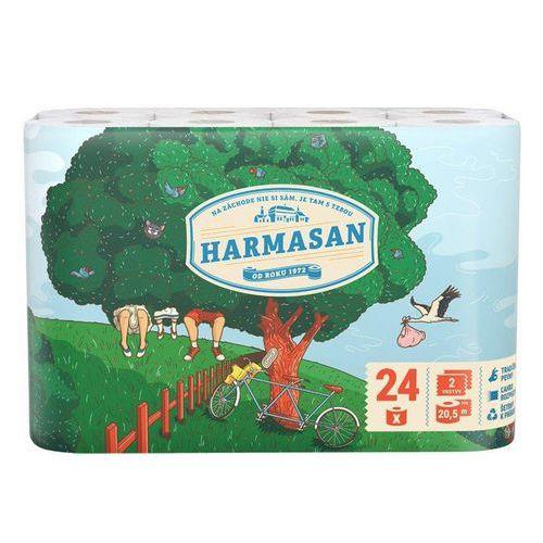 Toaletní papír Harmony Harmasan 2vrstvy, bílý, 24ks