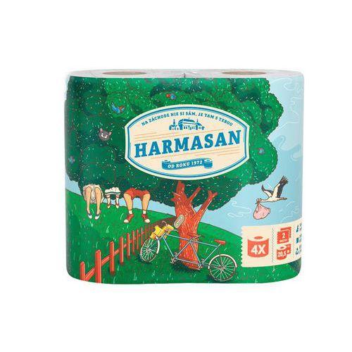 Toaletní papír Harmony Harmasan 2vrstvy, bílý, 4ks