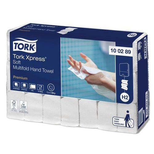 Papírové ručníky skládané Tork Xpress PREMIUM Soft 21,2 x 25,5 cm, bílá, 3150ks