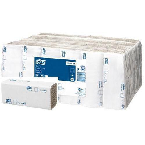 Papírové ručníky skládané Tork C Universal béžové H3, 4608ks