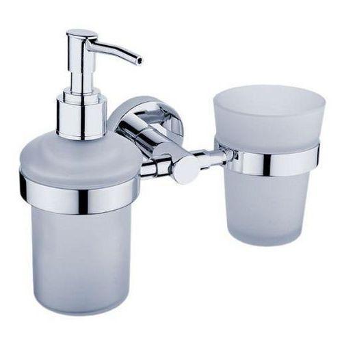 Dávkovač na tekuté mýdlo a držák skleničky 200ml Unix
