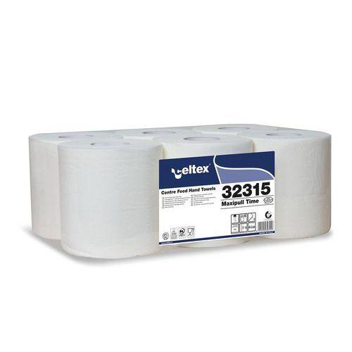 Papírové ručníky v roli Celtex Maxi Pull Time bílá 2vrstvy, 6ks