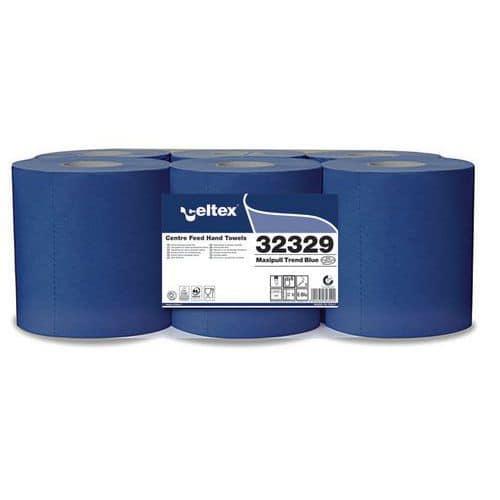 Papírové ručníky v roli Celtex Maxi Pull Trend modrá 2vrstvy, 6ks