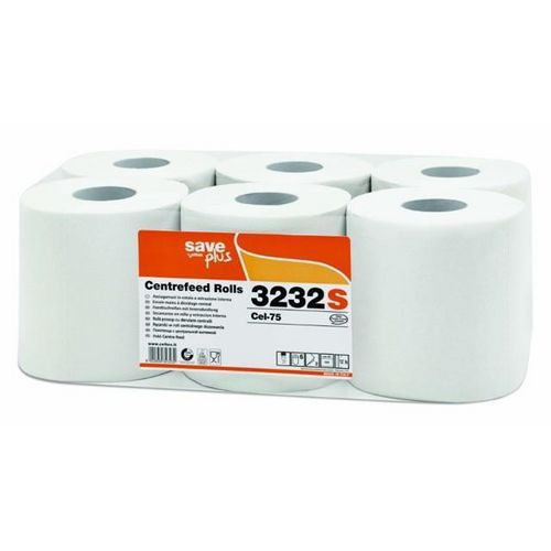 Papírové ručníky v roli se středovým odvíjením Celtex S-Plus bílá , 6ks