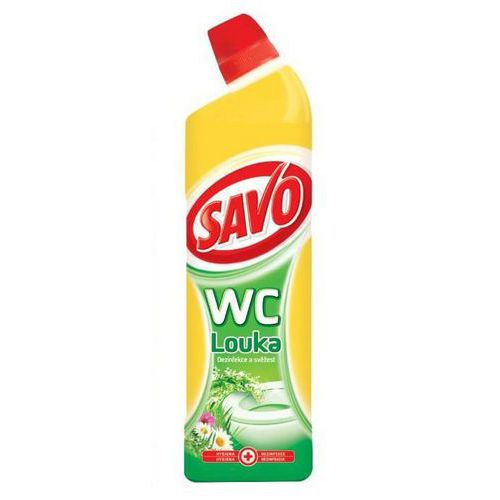 SAVO WC čistič svěží louka gel 750ml
