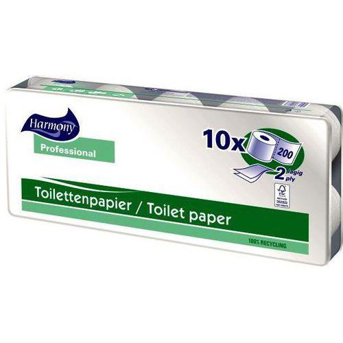 Toaletní papír Harmony Professional 2vrstvy 200 útržků natur, 10ks