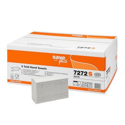 Papírové ručníky skládané Celtex S-Plus V Time 2vrstvy, 3000ks
