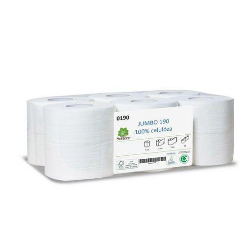 Toaletní papír Softree Mini Jumbo role 19cm 2vrstvy bílý, 12ks