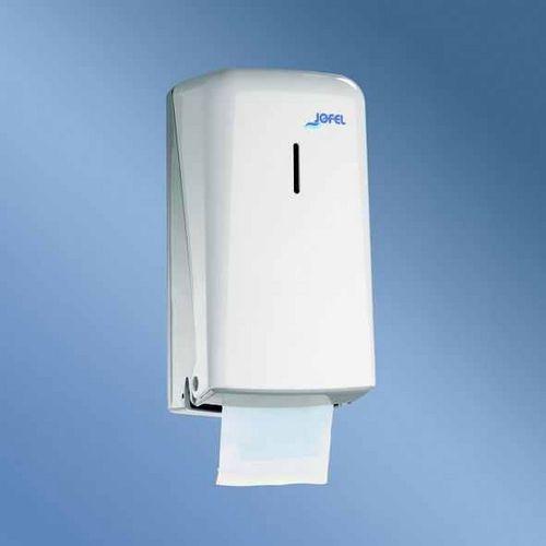 Zásobník toaletního papíru JOFEL pro konvenční role plast, bílý