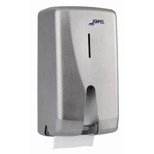 Zásobník toaletního papíru JOFEL pro konvenční role nerez satén