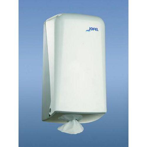 Zásobník na papírové ručníky v miniroli JOFEL Azur, bílý plast