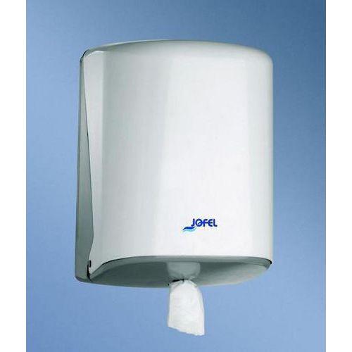 Zásobník na papírové ručníky v roli JOFEL Azur, bílý plast