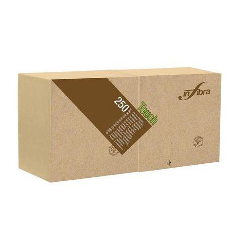 Koktejlové ubrousky BIO-EKO Infibra 2vrstvy 25x25cm, béžová, 250ks