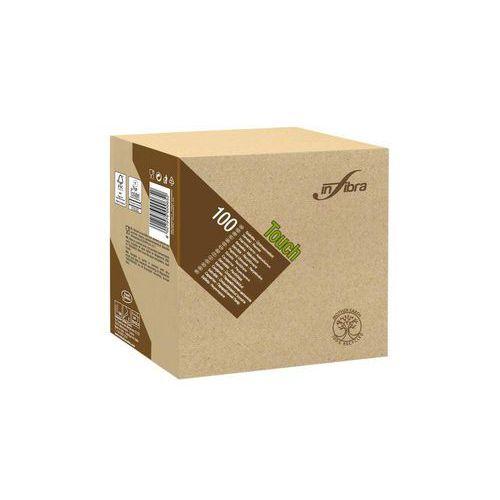 Papírové ubrousky BIO-EKO Infibra 2vrstvy 33x33cm, béžová, 100ks