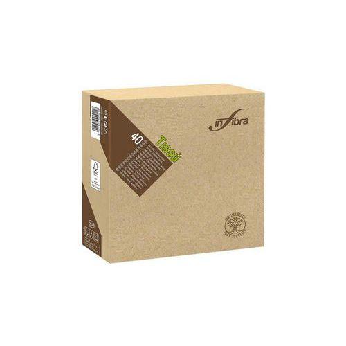 Papírové ubrousky BIO-EKO Infibra 2vrstvy 38x38cm, béžová, 40ks