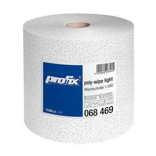 Průmyslová role malá TEMCA Profix poly-wipe bílá