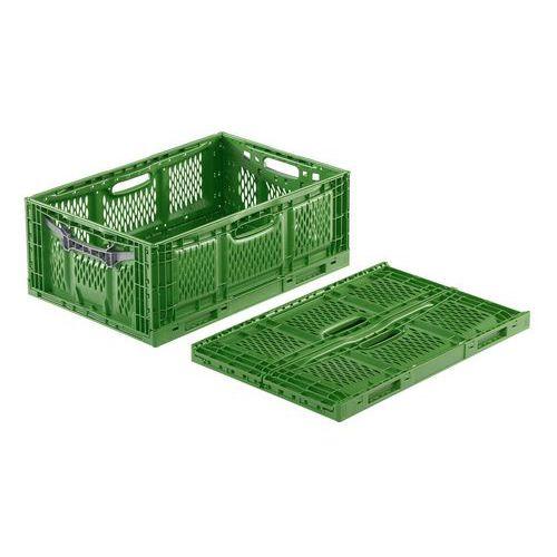 Stohovatelná skládací přepravka Clever Fresh Box perforovaná, 45 l - Prodloužená záruka na 10 let