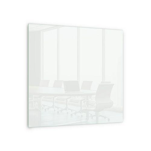 Skleněná magnetická tabule Memoboard, bílá, 100 x 100 cm