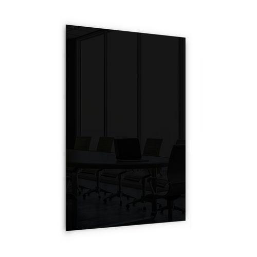 Skleněná magnetická tabule Memoboard, černá, 200 x 100 cm - Prodloužená záruka na 10 let