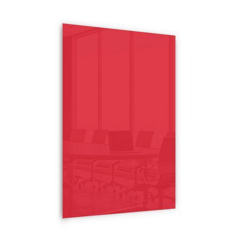 Skleněná magnetická tabule Memoboard, červená, 200 x 100 cm - Prodloužená záruka na 10 let