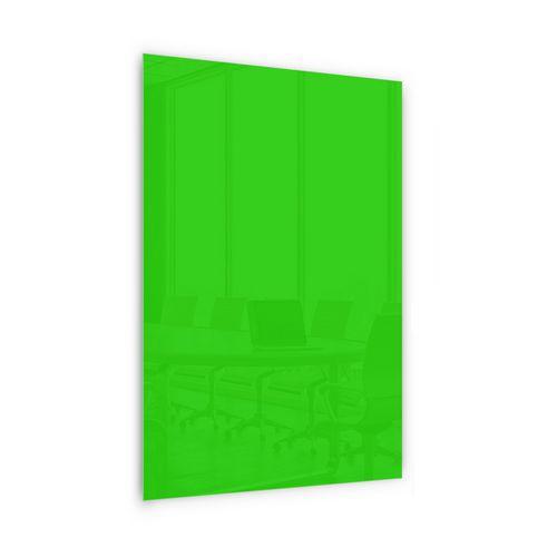 Skleněná magnetická tabule Memoboard, zelená, 200 x 100 cm - Prodloužená záruka na 10 let