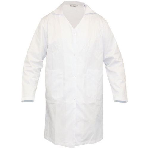 Dámský bílý plášť Manutan, bavlna, vel. XL