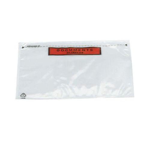 Nalepovací obálky na balíky Manutan, 228 x 120 mm