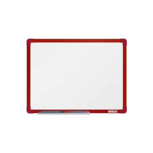 Bílá magnetick?? tabule boardOK 60 x 45 cm, červená