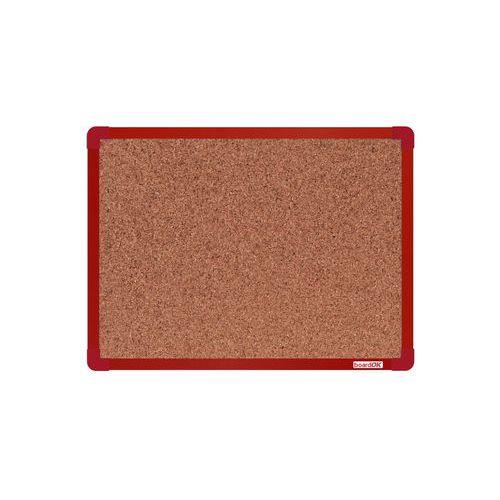 Korková tabule boardOK, 60 x 45 cm, červená