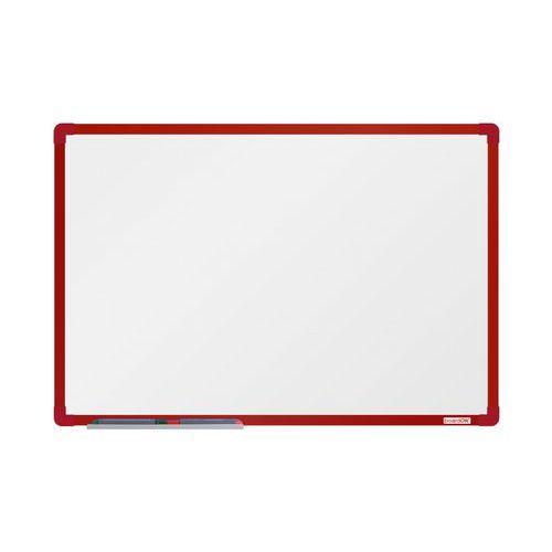 Bílá magnetická tabule boardOK 90 x 60 cm, červená