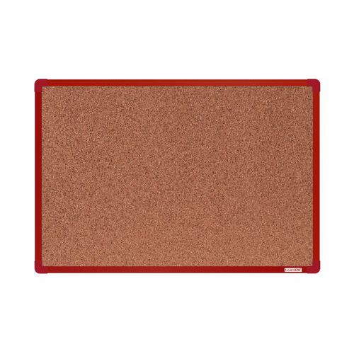 Korková tabule boardOK, 90 x 60 cm, červená
