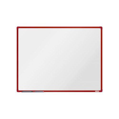 Bílá magnetická tabule boardOK 120 x 90 cm, červená