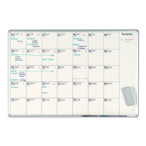Bílá magnetická plánovací tabule ekoTAB 100 x 70 cm, měsíc