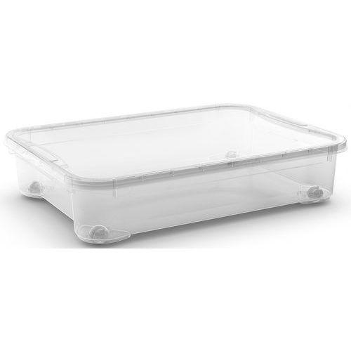 Plastový úložný box s víkem, průhledný, 54 l - Prodloužená záruka na 10 let